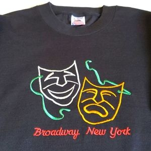 Broadway New York Embroidered Graphic Tshirt
